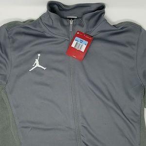 *Nike Air Jordan Mens  Dri-Fit Zip Hoodie Grey Med